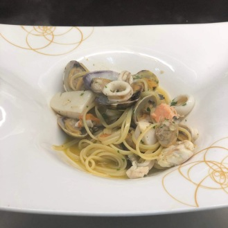 Tagiolini mit Meeresfrüchten